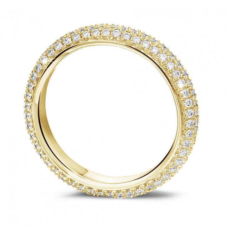0.85 カラットのイエローゴールドダイヤモンドエタニティリング(フルセット)
