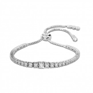 ブレスレット - 1.50カラットのホワイトゴールドダイヤモンドグラデーションブレスレット