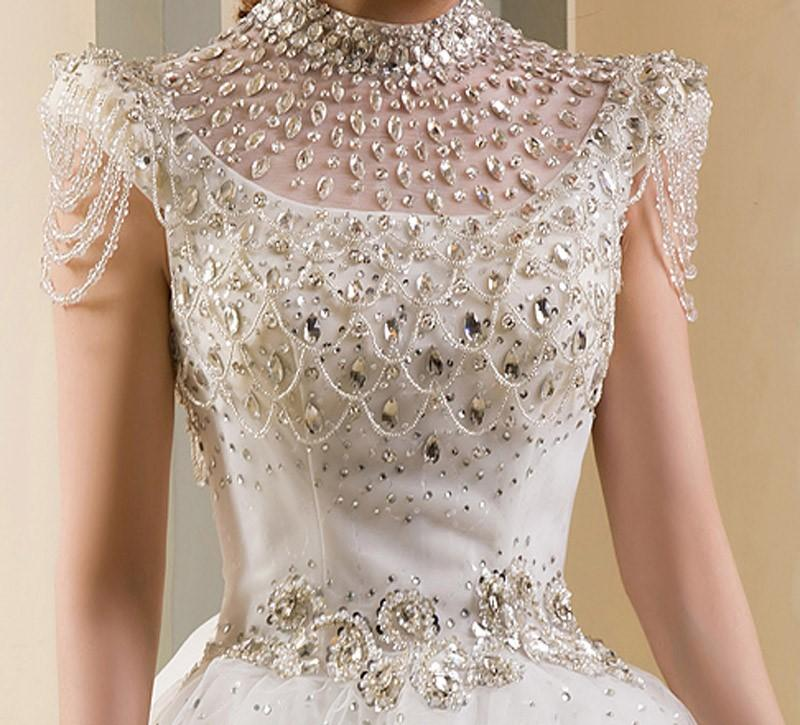Diamond wedding dress