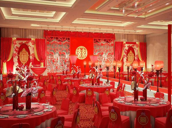Bright red wedding location for a modern Chinese wedding - BAUNAT