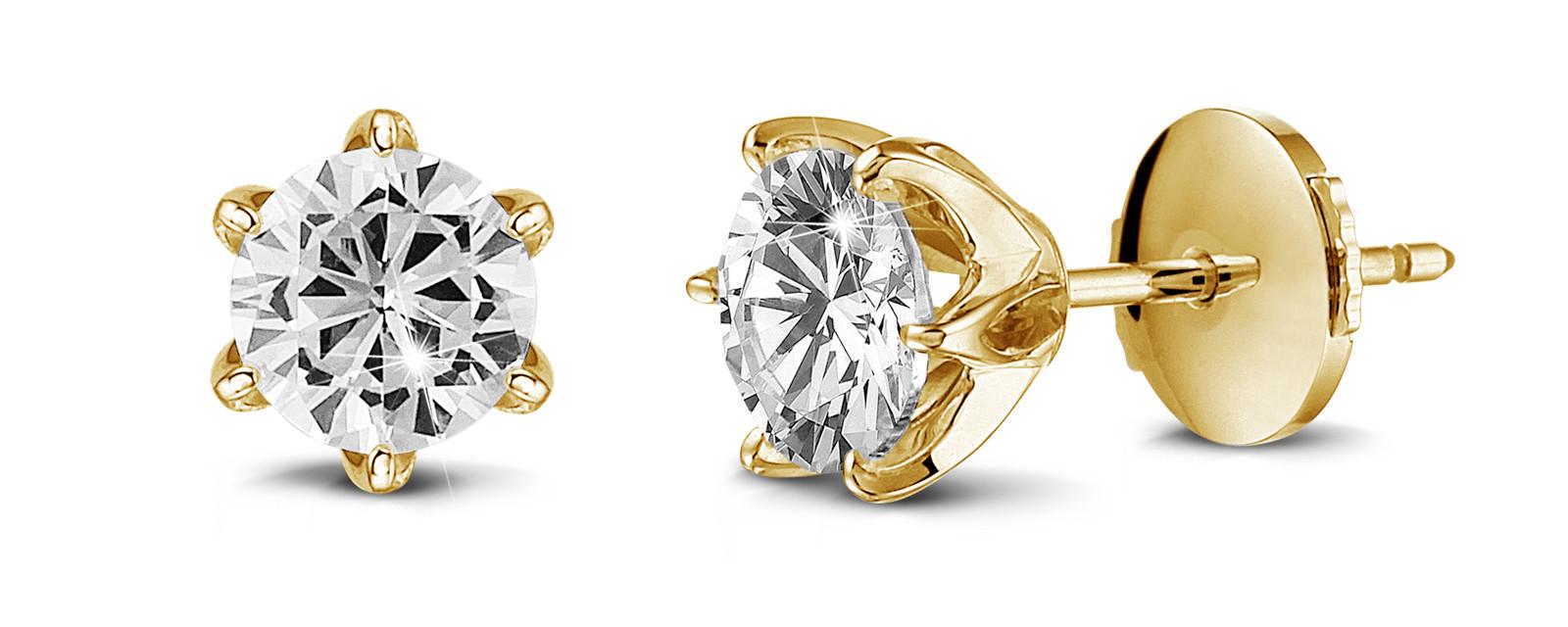 How many carats should I choose for diamond stud earrings or earrings?