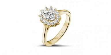 黄金订婚戒指