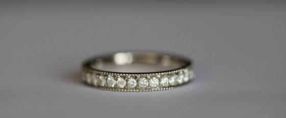 Adding texture to your diamond ring with milgrain edging