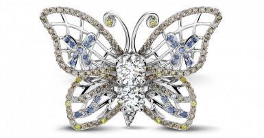 Diamond rings inspired by the animal kingdom