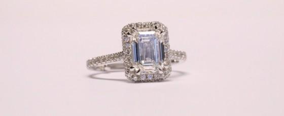 Emerald cut diamond rings throughout history