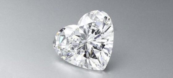 Losse hartvormige diamant