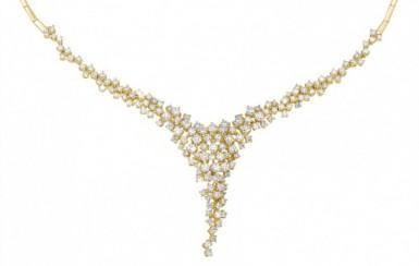 Diamanten gouden ketting