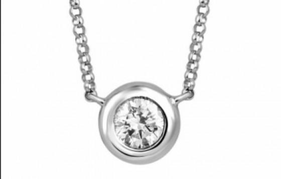 pendant with solitaire diamond