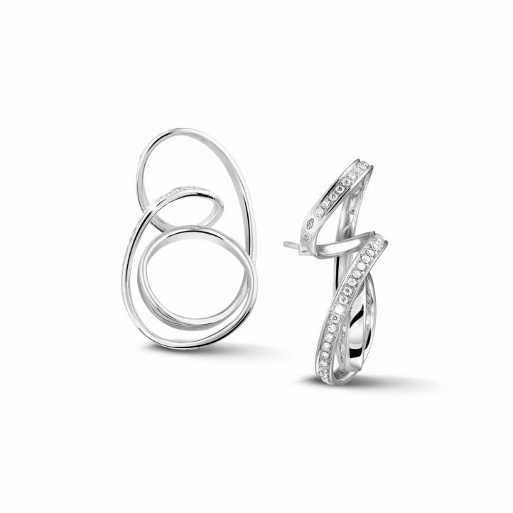 1.50 karaat diamanten design oorbellen in wit goud