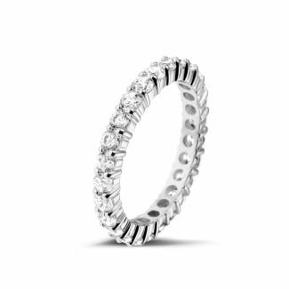 Witgouden diamanten trouwringen en alliances - 1.56 karaat diamanten alliance in wit goud