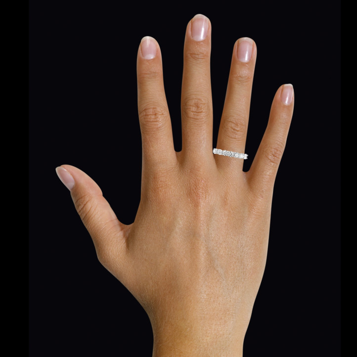 0.70 karaat diamanten alliance in wit goud