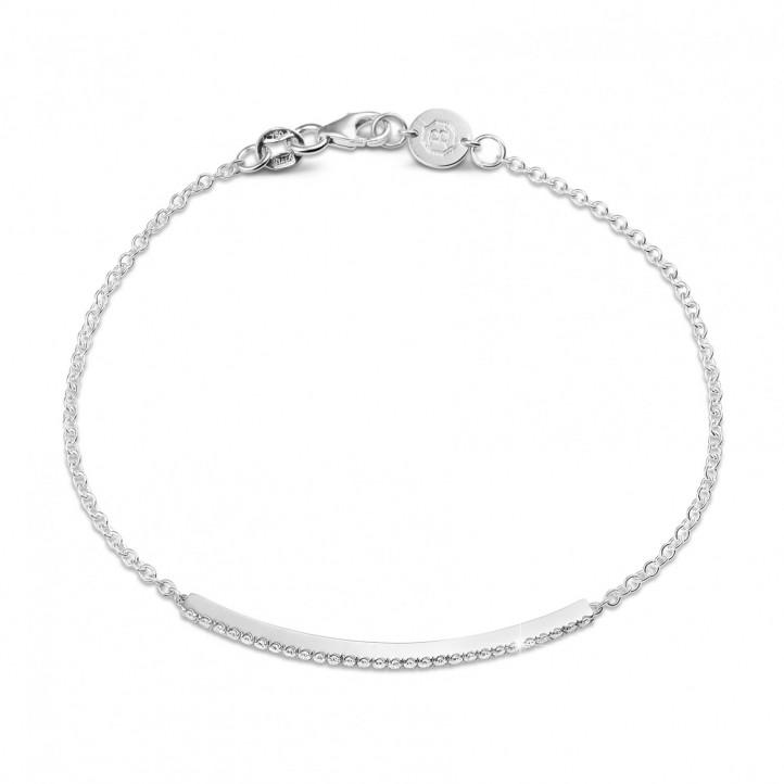0.25 caraat fijne diamanten armband in wit goud