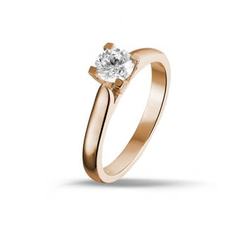 0.30 karaat diamanten solitaire ring in rood goud