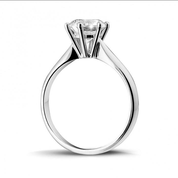 1.50 karaat diamanten solitaire ring in wit goud