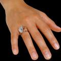 0.89 karaat diamanten design ring in rood goud