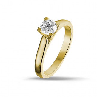 0.30 karaat diamanten solitaire ring in geel goud