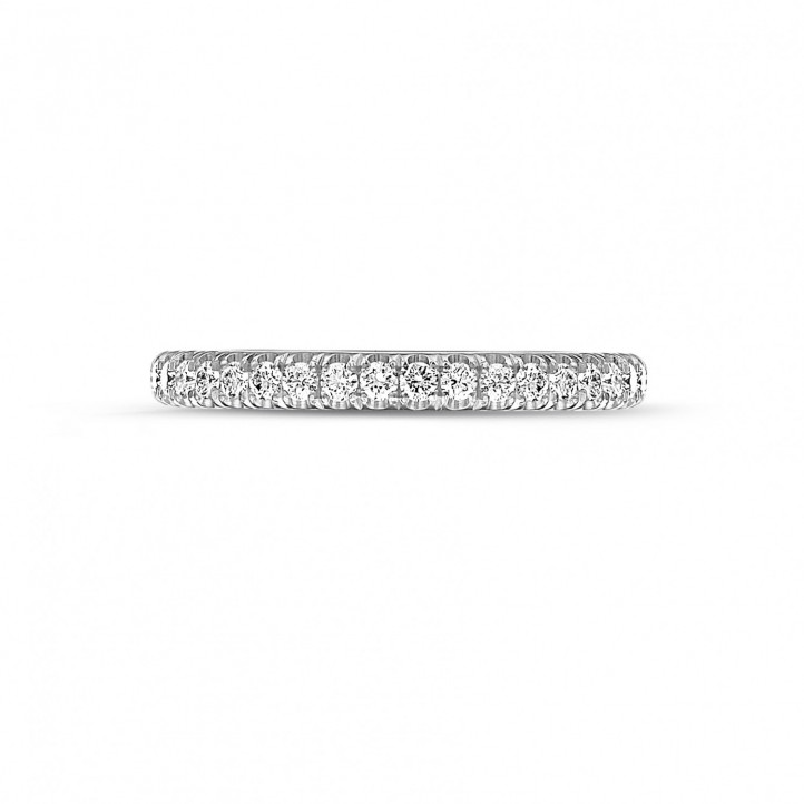 0.35 caraat alliance (half gezet) in platina met ronde diamanten