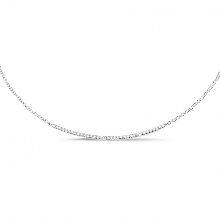 0.30 karaat fijne diamanten halsketting in wit goud