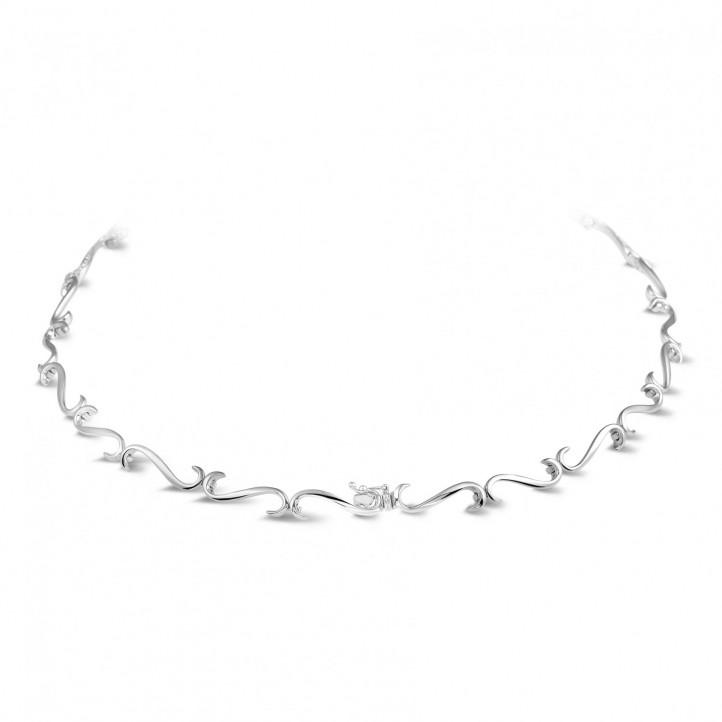3.65 caraat diamanten halsketting in wit goud