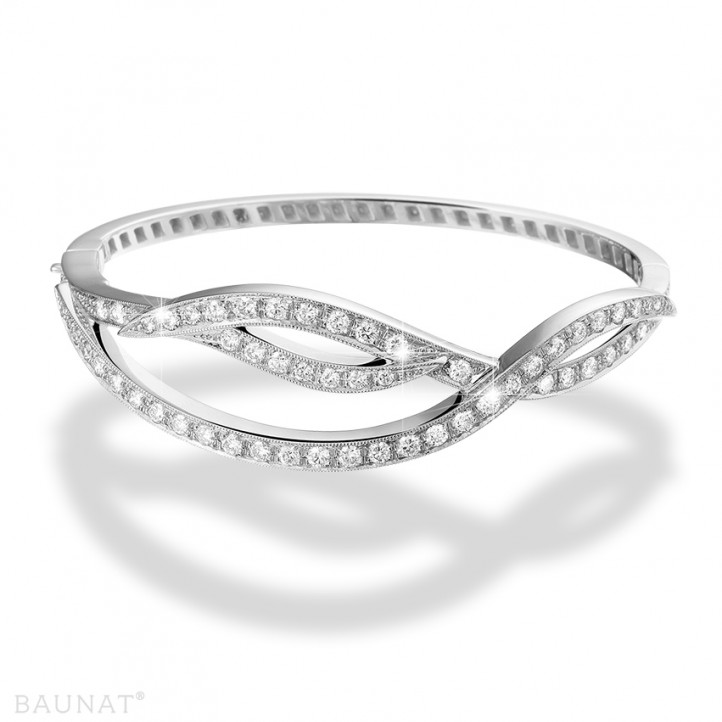 2.43 caraat diamanten design armband in platina