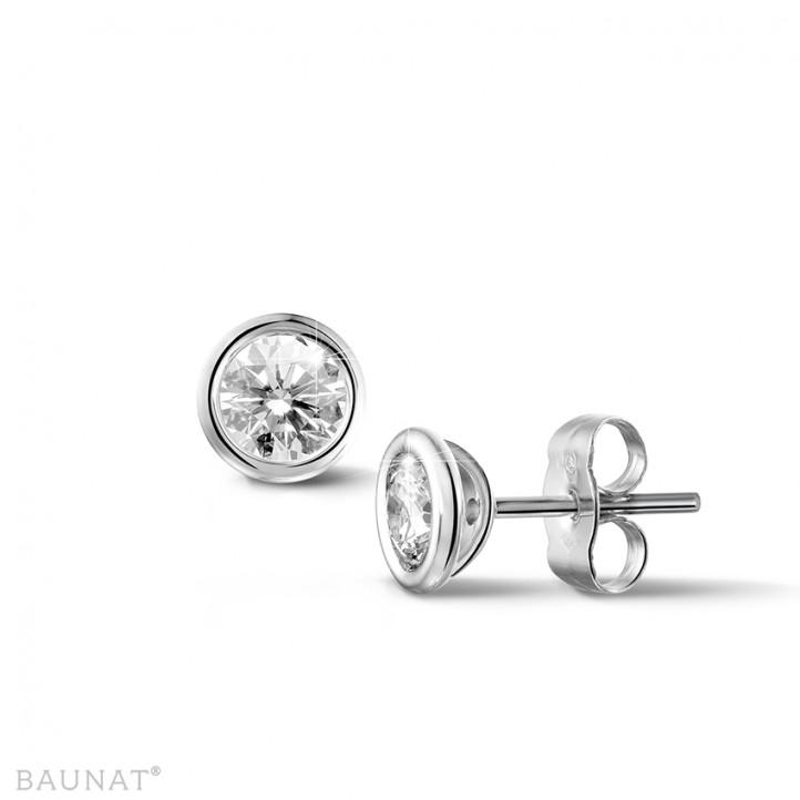 0.60 caraat diamanten satelliet oorbellen in platina