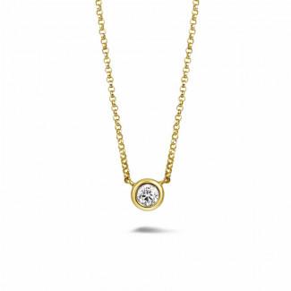 0.30 caraat diamanten satelliet hanger in geel goud