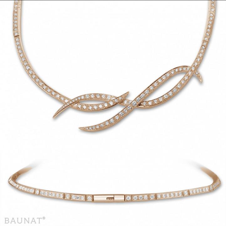 8.60 karaat diamanten design halsketting in rood goud