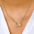 0.73 caraat diamanten design halsketting in geel goud