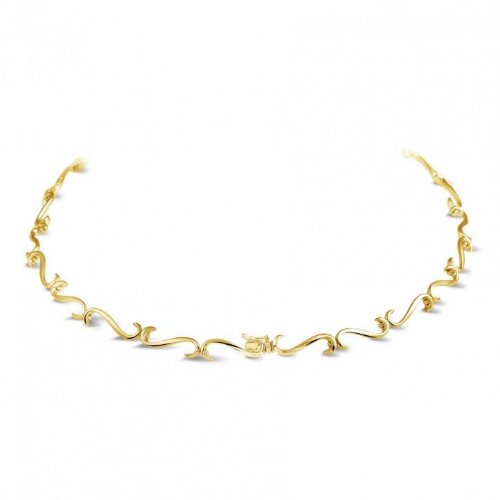 3.65 karaat diamanten halsketting in geel goud