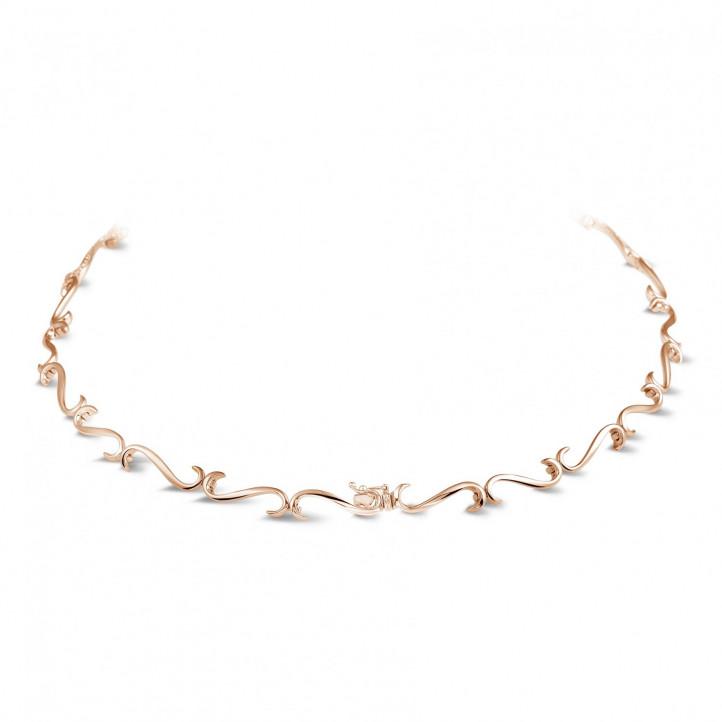 3.65 caraat diamanten halsketting in rood goud