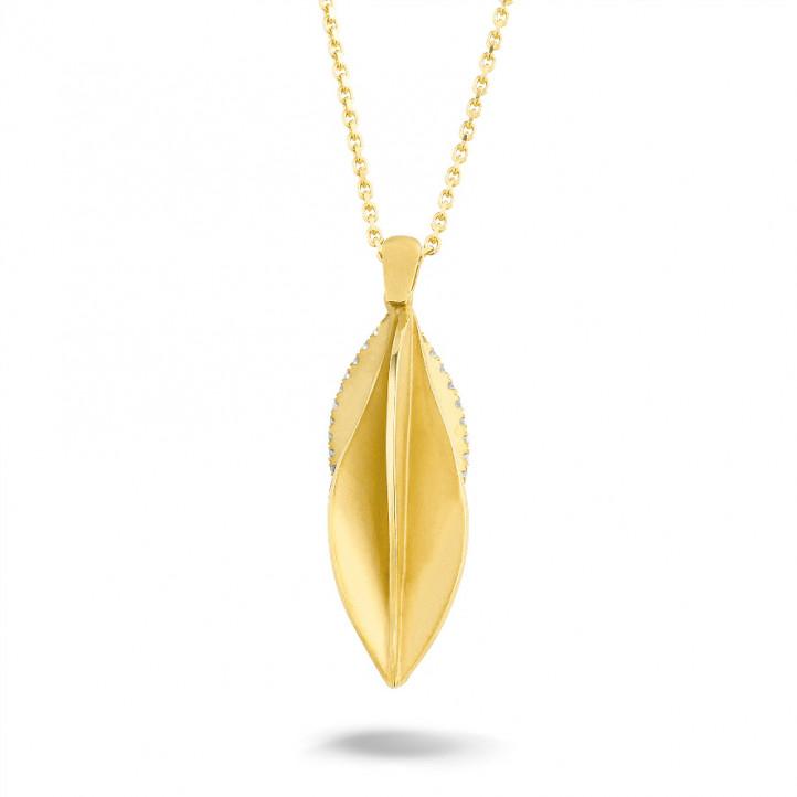 0.25 karaat diamanten design hanger in geel goud