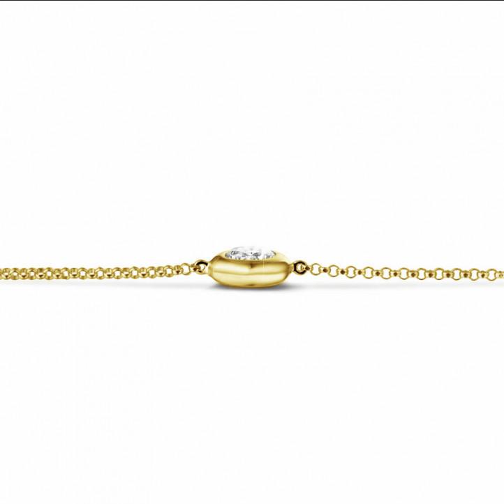 0.70 karaat diamanten satelliet armband in geel goud
