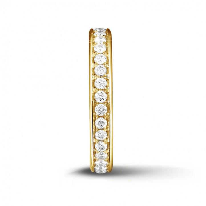0.68 karaat diamanten alliance (volledig rondom gezet) in geel goud