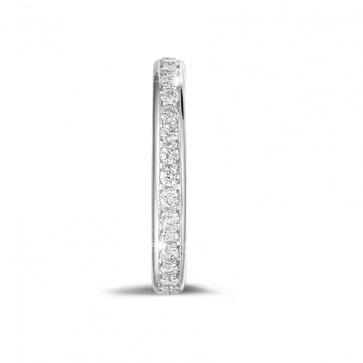 0.55 karaat diamanten alliance (volledig rondom gezet) in wit goud