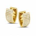 2.16 caraat diamanten oorbellen in geel goud