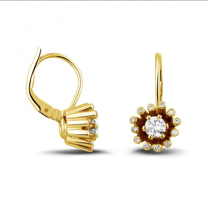 0.50 karaat diamanten design oorbellen in geel goud
