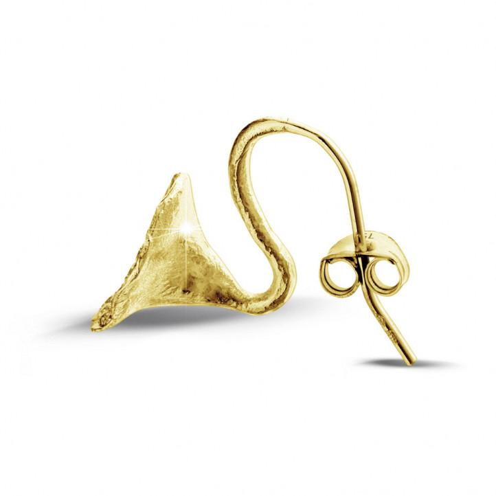 0.76 karaat diamanten design oorbellen in geel goud