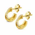0.20 karaat diamanten design oorbellen in geel goud