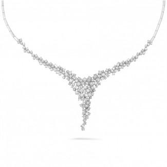 Halskettingen - 5.90 karaat diamanten halsketting in wit goud