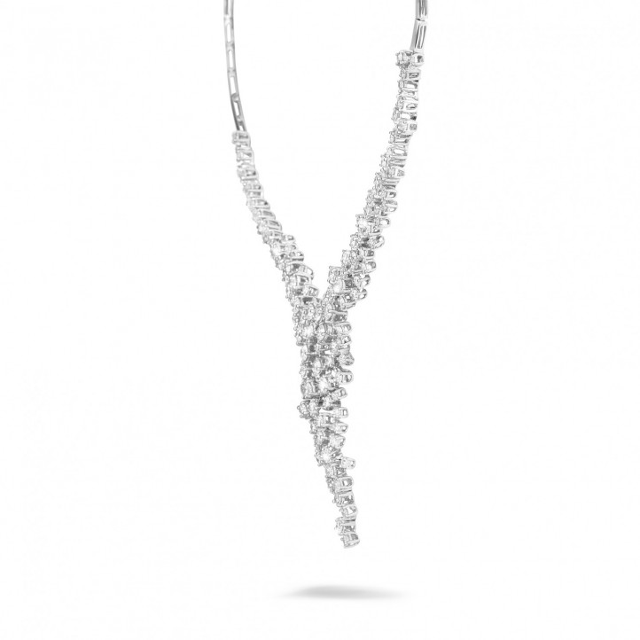 5.90 karaat diamanten halsketting in platina