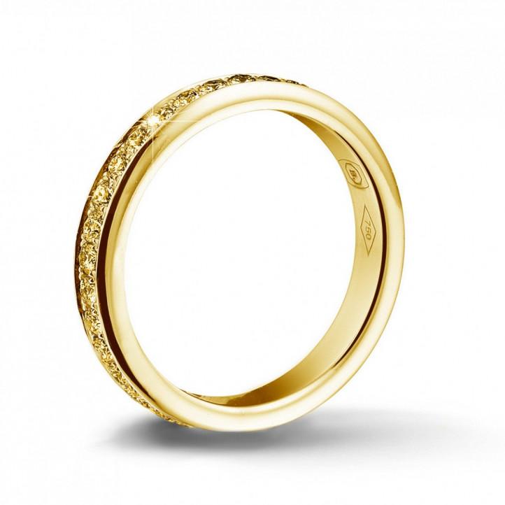 0.68 karaat alliance (volledig rondom gezet) in geel goud met gele diamanten