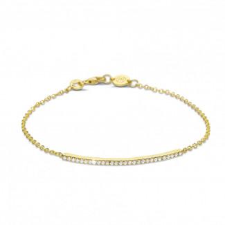Tijdloos - 0.25 caraat fijne diamanten armband in geel goud