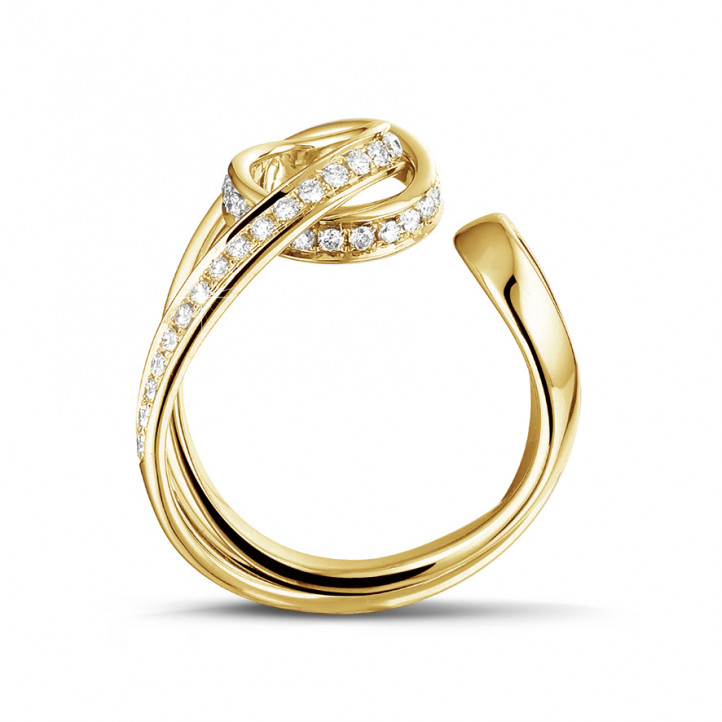 0.55 karaat diamanten design ring in geel goud