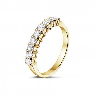 Geelgouden Diamanten Ringen - 0.54 karaat diamanten alliance in geel goud