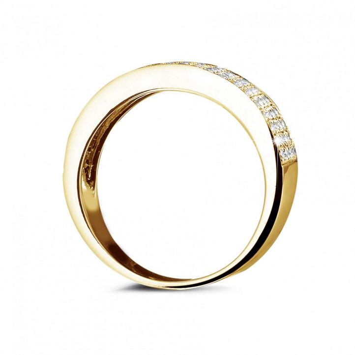0.64 karaat brede diamanten alliance in geel goud