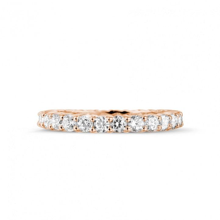 1.56 karaat diamanten alliance in rood goud