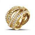2.50 karaat diamanten design ring in geel goud