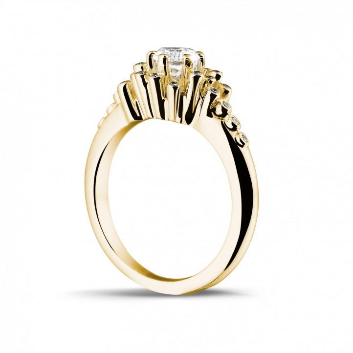 0.50 karaat diamanten design ring in geel goud