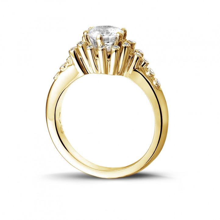 0.90 karaat diamanten design ring in geel goud