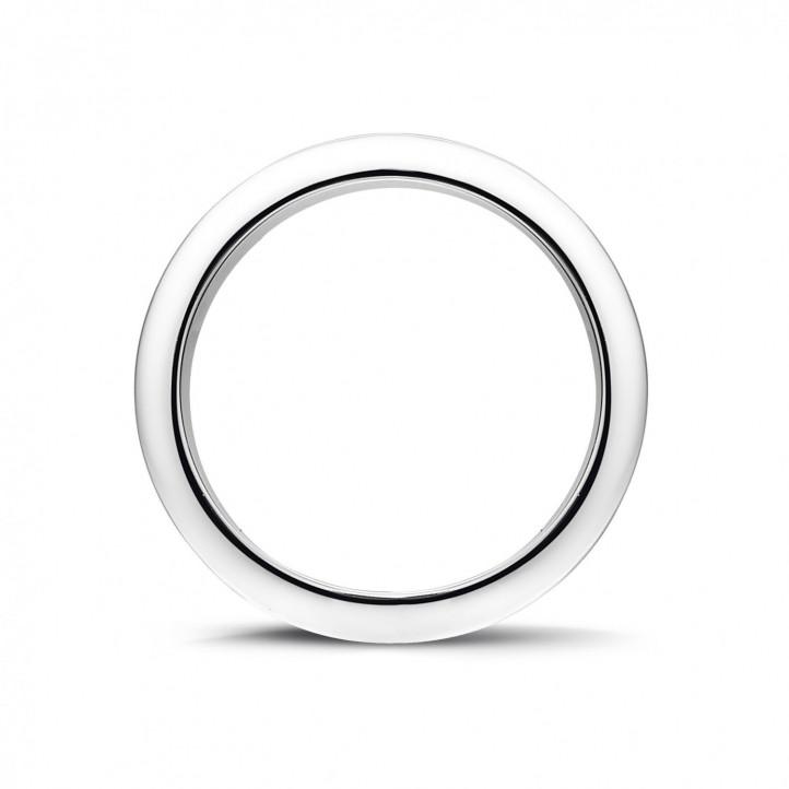 0.68 caraat alliance (volledig rondom gezet) in wit goud met zwarte diamanten
